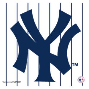 Yankees Pinstripe Logo Mousepad-0