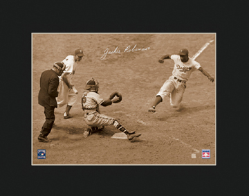 Lithograph - Jackie Robinson Steals Home 11x14-0