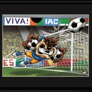 Taz Soccer 11 x 14 Lithograph-0