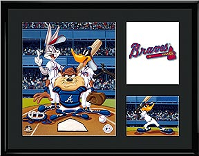 Looney Tunes Baseball 11x14 Lithograph (Available in all MLB teams)-0