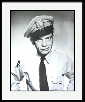 Barney Fife Poster -Signed and Framed-0