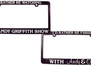 License Plate Holder - I'd Rather Be Watching . . . -0