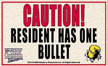 Welcome Mat - Caution One Bullet-0