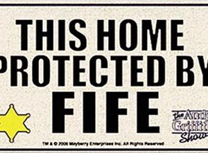 Welcome Mat - Protected By Fife-0