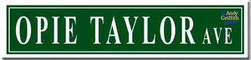 Street Sign - Opie Taylor Ave.-0
