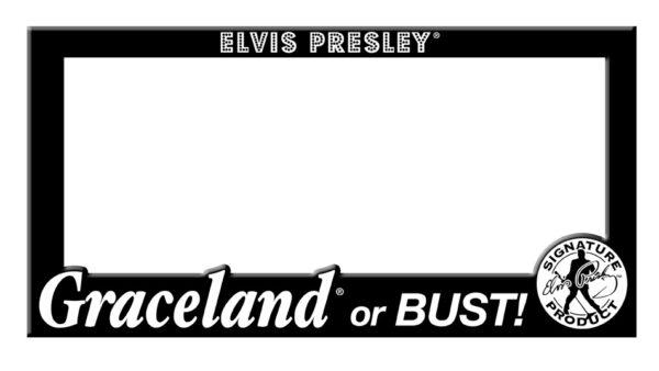 License Plate Holder -Graceland or Bust-0