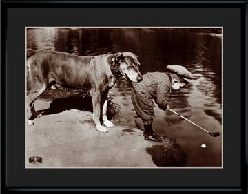 Lithograph –  11×14 Boy's Best Friend-0