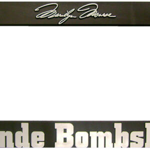 Blonde Bombshell License Plate Holder-0