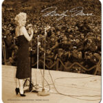 Marilyn Sings for the Troops Mouse Pad-0