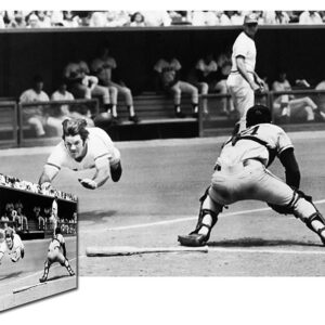 Pete Rose Diving into the Plate Canvas-0