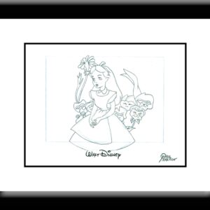 Alice In Wonderland Drawing-framed-0