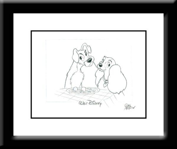 Lady And The Tramp Drawing