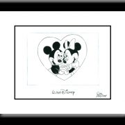 Mickey and Minnie in Love Drawing-0