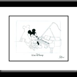 Mickey at the Piano Drawing-0