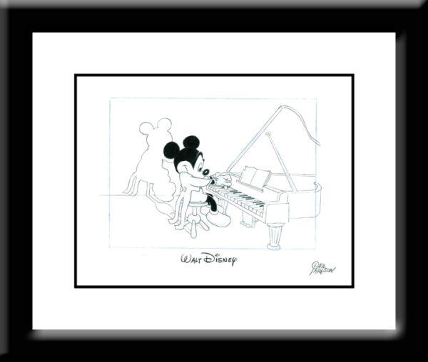 Mickey at the Piano Drawing-0
