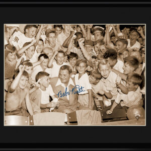 Lithograph - 11x14 Babe Ruth with kids in stadium-0