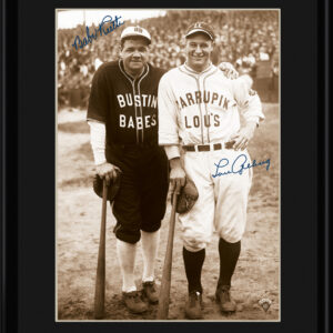 Lithograph - 11x14 Bustin Babes - Babe Ruth and Lou Gehrig-0