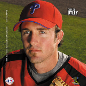 Chase Utley #2 Portrait Mouse Pad