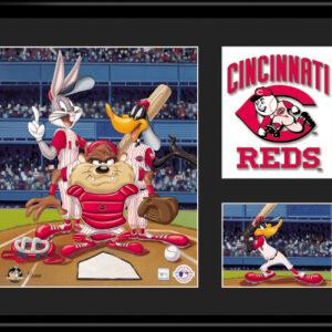 Cincinnati Reds Looney Tunes 11x14 Lithograph-0