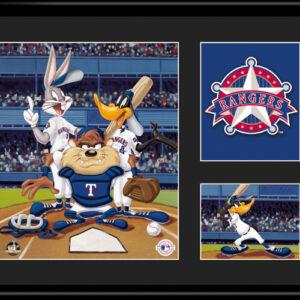 Texas Rangers -Looney Tunes 11x14 Lithograph-0