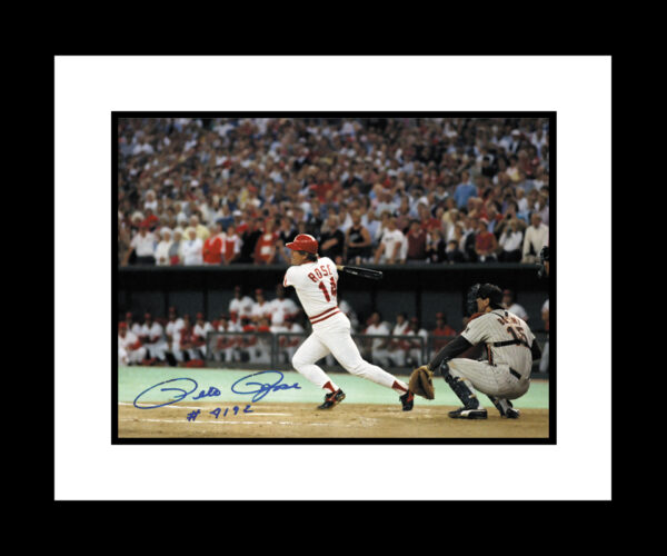 Pete Rose 4192 signed 16×20-0