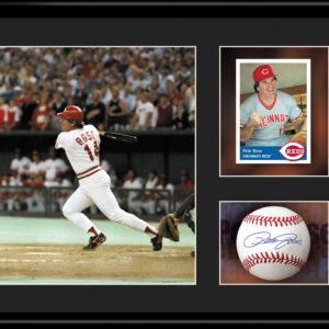 Pete Rose 11x14 Lithograph Facsimile Signature Framed-0