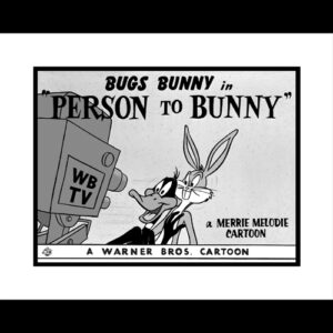 Person To Bunny - 16x20 Lobby Card Giclee-0