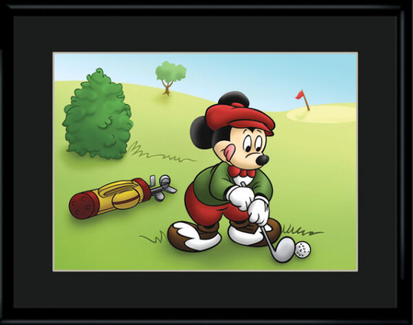 Mickey Golfing 11×14 Color Lithograph-0