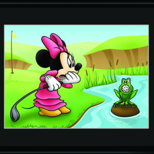 Minnie and the Frog Golfing 11x14 Lithograph-0