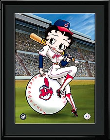 Betty on Deck - Cleveland Indians