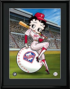 Betty On Deck - Philadelphia Phillies