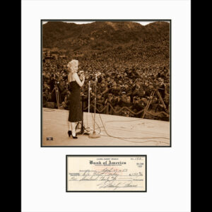 Marilyn Sings for the Troops with Check