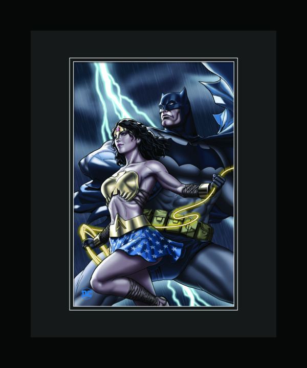 DC-BatmanandWonder-16×20-Framed