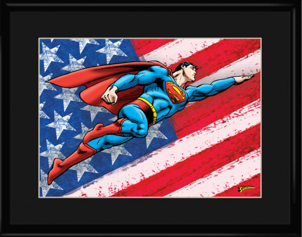 dc-PatrioticSuperman-11×14-framed